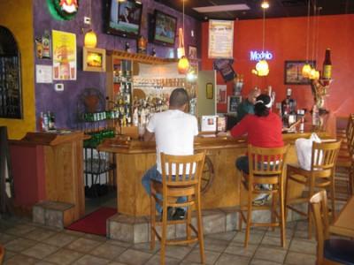 Sitting at the bar