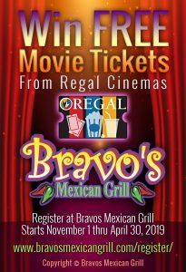 Bravos Mexican Grill-Free Movie Ticket