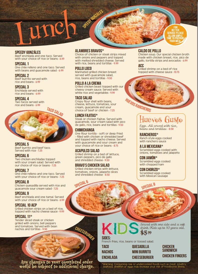 Bravos Lunch Kids