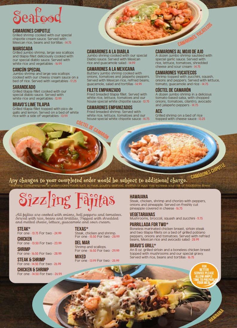 Bravos Seafood Fajitas